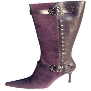 Donald Pliner Couture Suede and Leather Boot Shoe